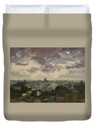 View Over Rooftops Of Paris Duvet Cover