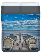 View Over The Pier Duvet Cover