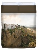 View Over The Tajo Gorge Ronda Home Of Bullfighting Duvet Cover