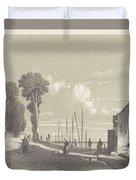 View The Veerweg Culemborg, Jan Weissenbruch, 1847 - 1865 Duvet Cover