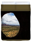 View Through A Portal, Sedona, Arizona Duvet Cover