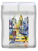 View To Manhattan Duvet Cover