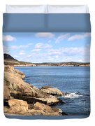 View To Sand Beach Duvet Cover