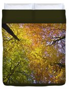 View To The Top Of Beech Trees Duvet Cover