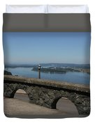 View To The West Of Crown Point Duvet Cover