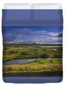 View Towards Lake Myvatn Iceland Duvet Cover