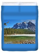 Views From Lake Louise Alberta  Duvet Cover