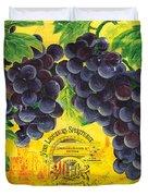 Vigne De Raisins Duvet Cover