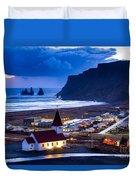 Vik Iceland Duvet Cover