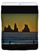 Vik Sea Stacks At Dusk - Iceland Duvet Cover