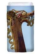 Viking Ship Dragon Head Duvet Cover
