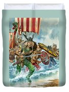 Vikings Duvet Cover by Pete Jackson