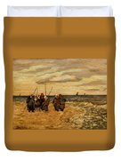 Viktor Ivanovich Zarubin Russian 1866  1928 Fisherwomen In Normandie Duvet Cover