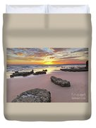 Gale Beach At Sunset. In Algarve Duvet Cover