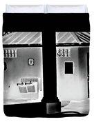 Vilano Beach Pavilion Restroom Duvet Cover