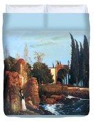 Villa By The Sea 1878 Duvet Cover