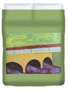 Village And Bridge Duvet Cover