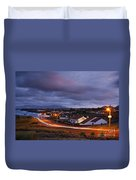 Village At Twilight Duvet Cover