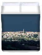 Village Before The Storm Duvet Cover