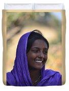 Village Girl Duvet Cover by Atul Daimari