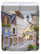 Village In Alsace Duvet Cover