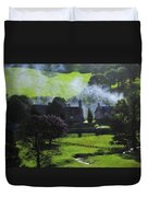 Village In North Wales Duvet Cover