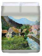 Village In The Austrian Alps Duvet Cover