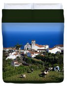 Village In The Azores Duvet Cover