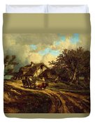Village Landscape 1844 Duvet Cover