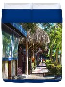 Village Life II - Siesta Key Duvet Cover