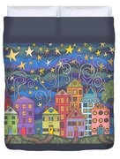Village Lights Duvet Cover