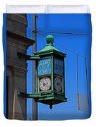 Village Of Elmore Clock-vertical Duvet Cover