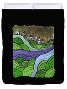 Village On The Hill Duvet Cover