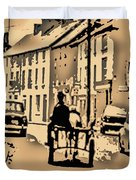 Village Scene Ireland Duvet Cover