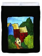 Village Scene Duvet Cover