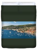 Villefranche-sur-mer And Cap De Nice On French Riviera Duvet Cover