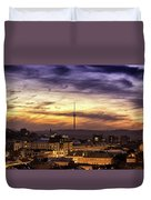 Vilnius Tv Tower Duvet Cover