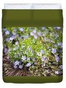 Vinca Violet Purple Clump Duvet Cover
