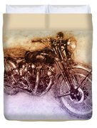 Vincent Black Shadow 2 - Standard Motorcycle - 1948 - Motorcycle Poster - Automotive Art Duvet Cover