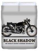Vincent Black Shadow Duvet Cover