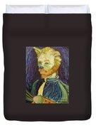 Vincent Van Gogh Cat    Duvet Cover
