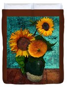 Vincent's Sunflowers 2 Duvet Cover