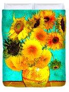 Vincent's Sunflowers 4 Duvet Cover