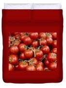 Vine Ripe Tomatos Duvet Cover by John Trax