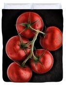 Vine Ripened Tomatoes. Duvet Cover