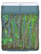Vines Abstract IIi Duvet Cover