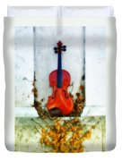 Vines And Violin Duvet Cover