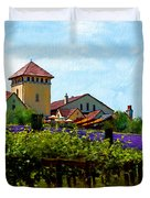Vineyard And Heather Duvet Cover