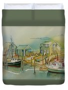 Vineyard Boats Duvet Cover