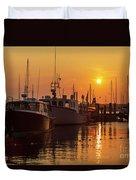 Vineyard Haven Harbor Sunrise II Duvet Cover